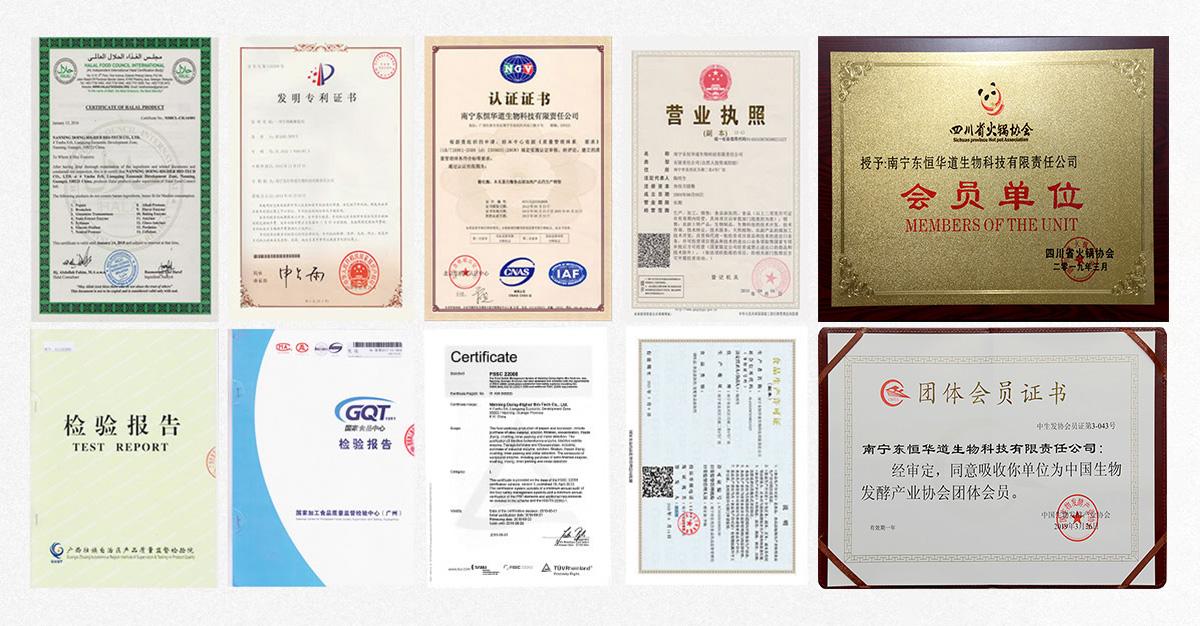 东恒华道荣誉证书